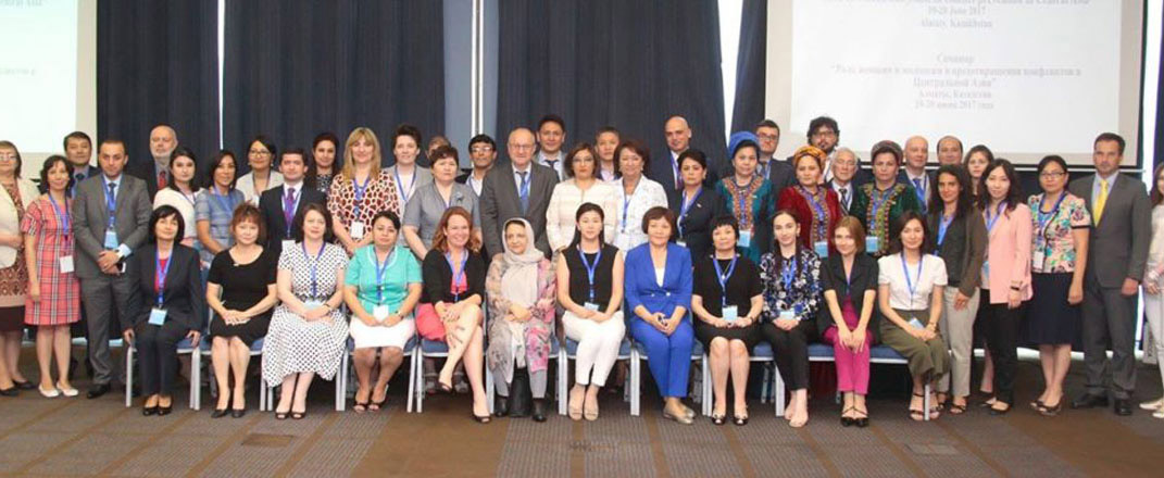 """AISS representative attends """"The role of women and youth in conflict prevention in"""